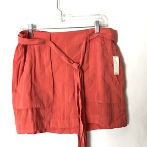Old Navy Mini Skirt Open Front Pockets Belted